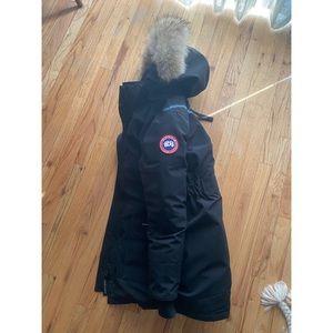 Authentic Canada Goose Black Parka Coat XS w Fur